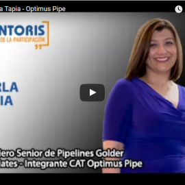 Entrevista: Carla Tapia, Ingeniero Senior de Pipelines Golder Associates – Integrante CAT Optimus Pipe